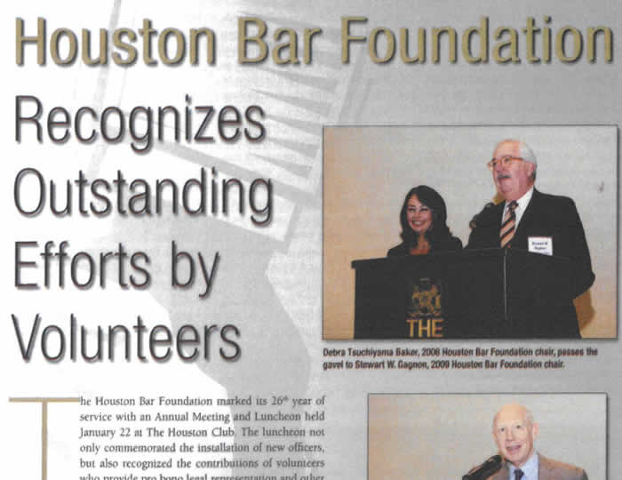 Baker · Wotring LLP | HBF Chair Debra Tsuchiyama Baker Recognizes Outstanding Efforts by Volunteers
